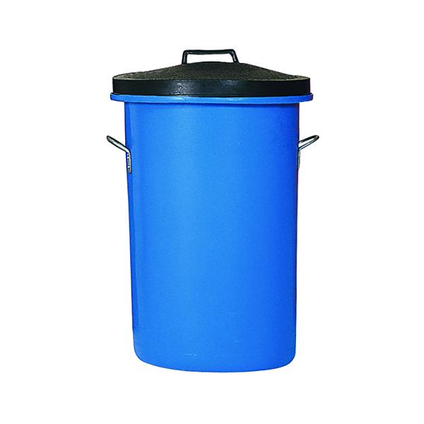 Heavy Duty Coloured Dustbin 85 Litre Blue (Dimensions: W476 x D476 x H673mm) 311963