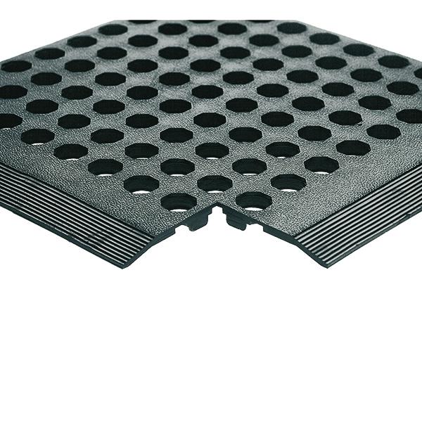 Rubber Worksafe Mat Black 312476 (Pack of 3) 312476