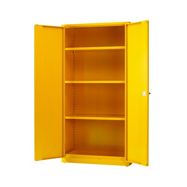 Hazardous Substance Storage Cabinet 72x36x18 inch c/w 3 Shelf Yellow 188736