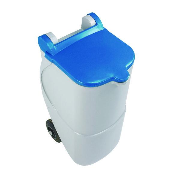 VFM Blue Non-Locking Recycling Wheelie Bin (Capacity: 90 litres) 314633