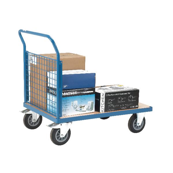 VFM Blue Premier Single Mesh 1000x700mm Platform Truck 315623