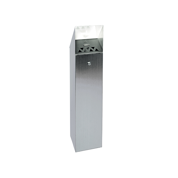 Silver Hooded Top Cigarette Ash Tower Bin 6.6 Litre 317468