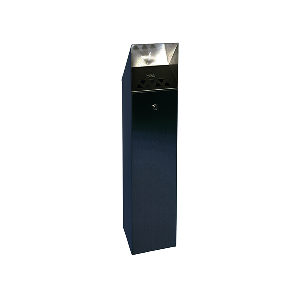 Black Hooded Top 6.6 Litre Cigarette Ash Tower Bin 317469