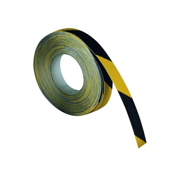 VFM Black /Yellow Self-Adhesive Anti-Slip Tape 50mmx18.3m 317720