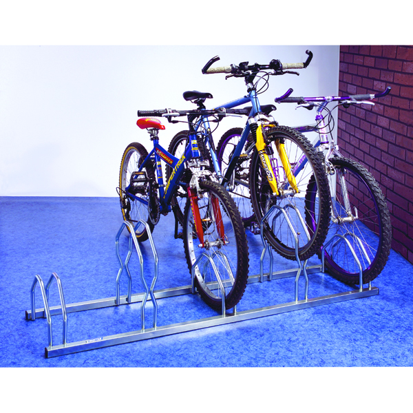 Cycle Rack For 5 Cycles Zinc Plated Grey (Dimensions: 1600x330mm, for tyre widths 35 - 55mm) 320077
