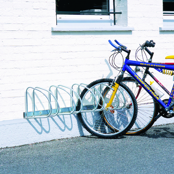 VFM Aluminium Wall/Floor Mounted 4-Bike Cycle Rack 320080