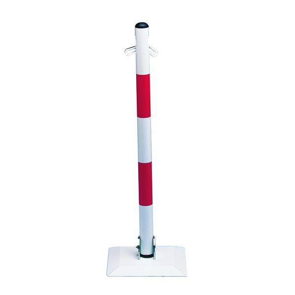 VFM Red/White Collapsible Barrier Post 320088