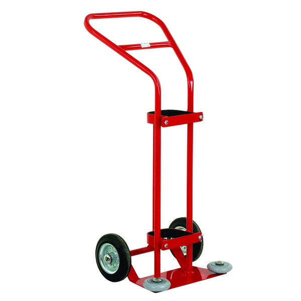 VFM Red 1360 Litre Oxygen Cylinder Trolley (Suitable for cylinders with diameters up to 140mm)320669