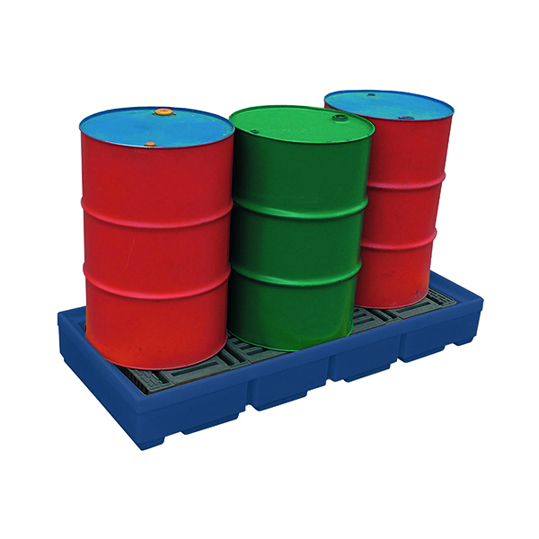 Pallet Sump Poly 2 Drum Capacity Blue 321622
