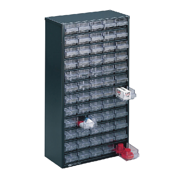 Clear 60 Drawer System Dark Grey Storage Cabinet 324208