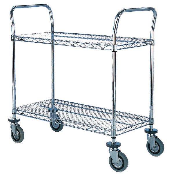 Image for 2 Tier Chrome Trolley 457x914mm 329015