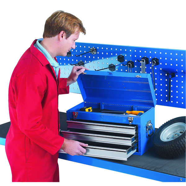 Image for Tool Chest 3 Drawer Blue (W508 x D303 x H255mm, fully lockable) 329228