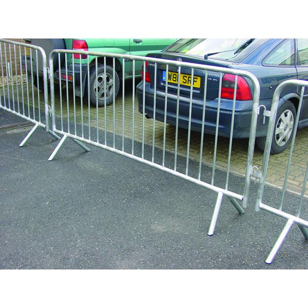 VFM Silver Crowd Control Barrier 1110x2580mm 329358