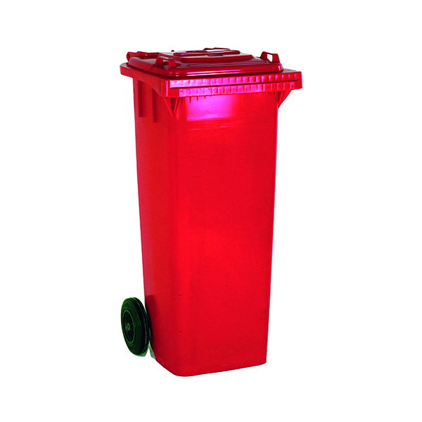 Wheelie Bin 120 Litre Red (W480 x D555 x H930mm) 331115