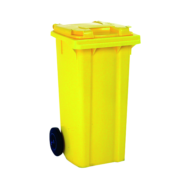 Wheelie Bin 120 Litre Yellow (W480 x D555 x H930mm) 331120