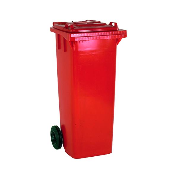 Wheelie Bin 140 Litre Red (W480 x D555 x H1070mm) 331156