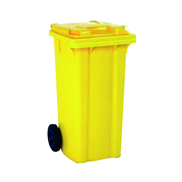 Wheelie Bin 360 Litre Yellow (W620 x D860 x H1070mm) 331231