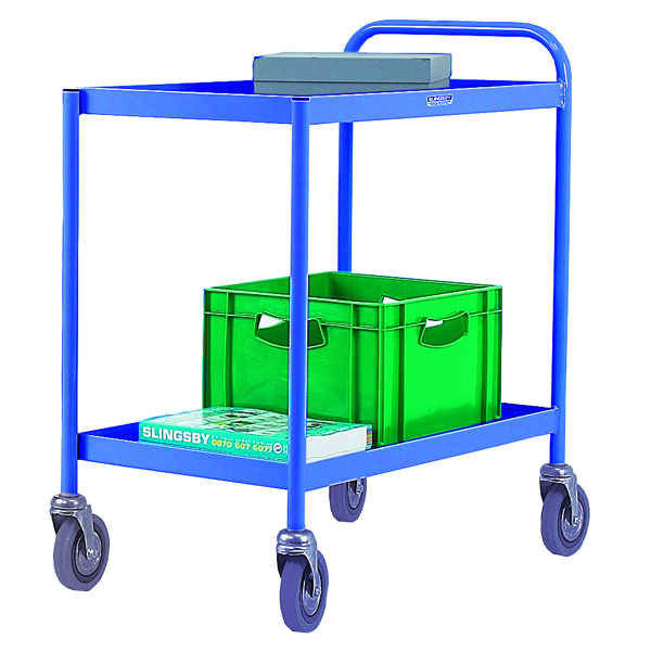 Image for 2 Tier Blue General Purpose Trolley 331491