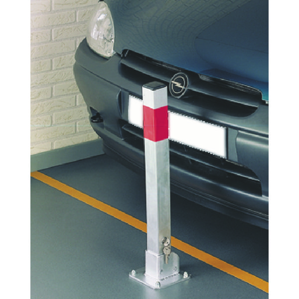 Post Safe Parking Silver (Visible res strip, automatically locks when up, folds down) 351066