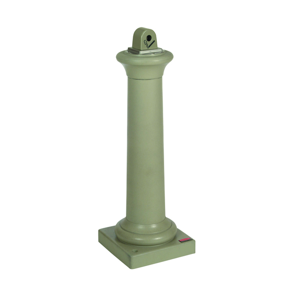 Easy Empty Ash Stand 12.6 Litre Sandstone (Dimensions: W300 x D300 x H975mm) 351126