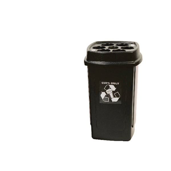 Disposable Cup Waste Bin (480 x 7oz cup capacity, 360 x 360 x 650mm) 354185