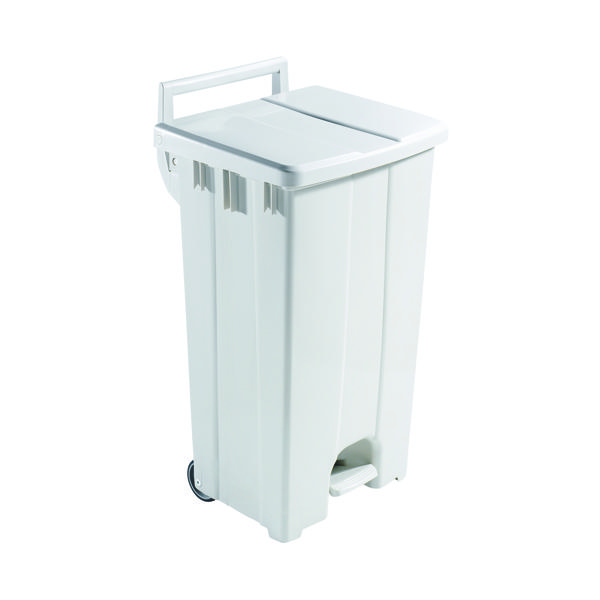 Plastic Pedal Bin With Lid 90L Grey 357001