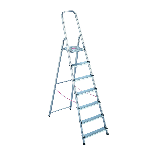 Aluminium Step Ladder 8 Step (Platform sits 1620mm Above the Floor) 358742