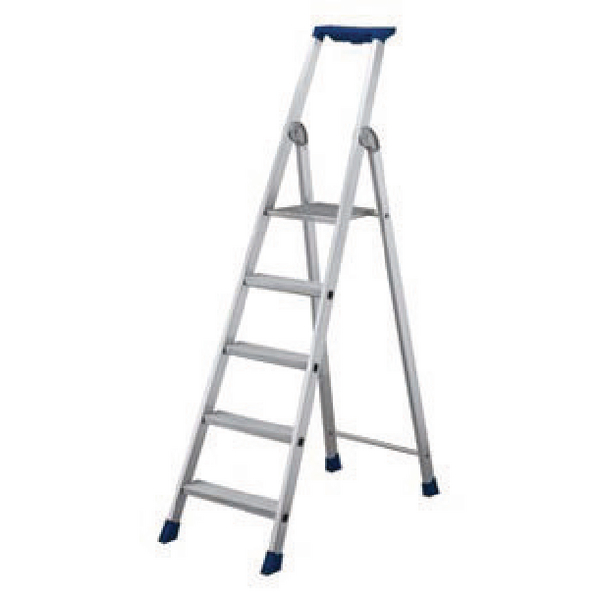 10 Ribbed Tread Platform Step Ladder Aluminium 358760