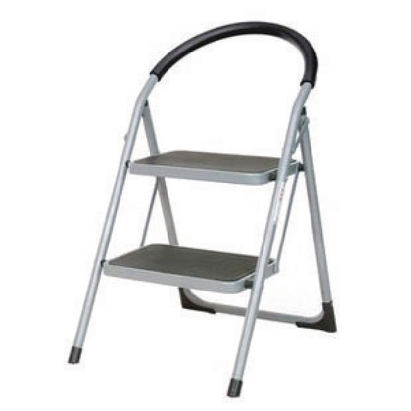 White 2 Tread Step Ladder (100kg Capacity, Height to top step: 490mm) 359293