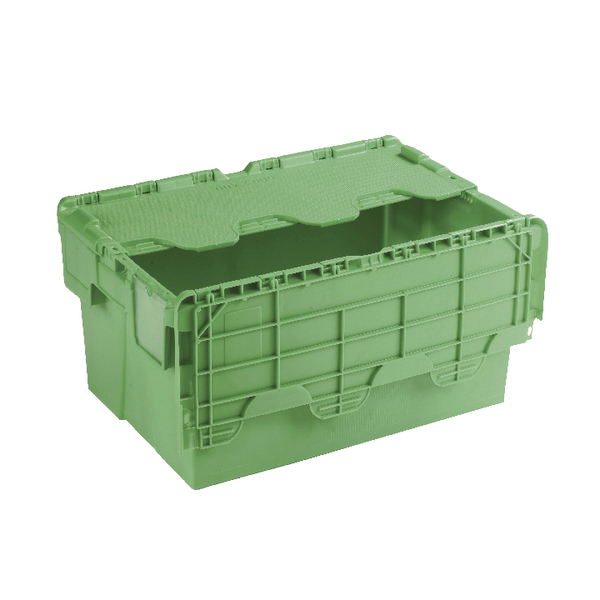 Image for Attached Lid Container 54L Green 360330