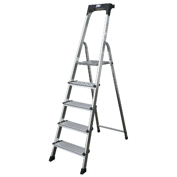 Comfort Aluminium Steps 7 Tread Silver 360998
