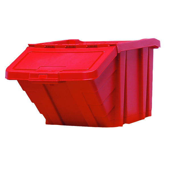 VFM Red Heavy Duty Recycle Storage Bin With Lid 369045