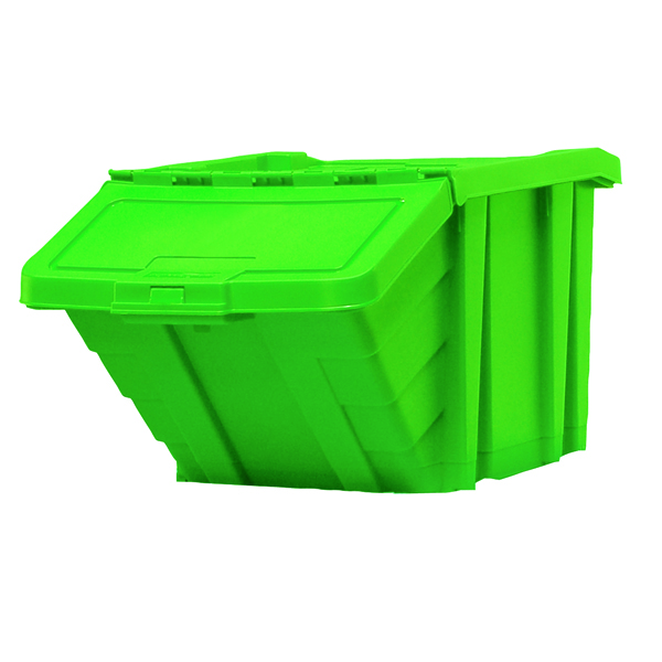 VFM Green Heavy Duty Recycle Storage Bin With Lid 369046