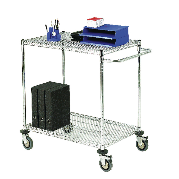 Mobile Trolley 2-Tier Chrome 373001