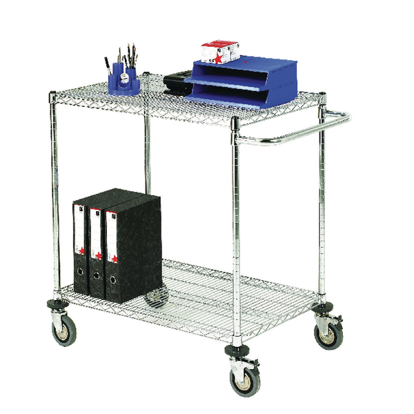 Mobile Trolley 2-Tier Chrome 373003
