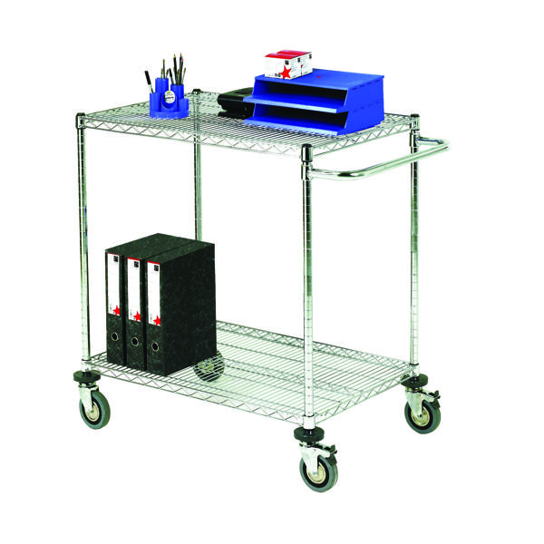 Mobile Trolley 2-Tier Chrome 373005