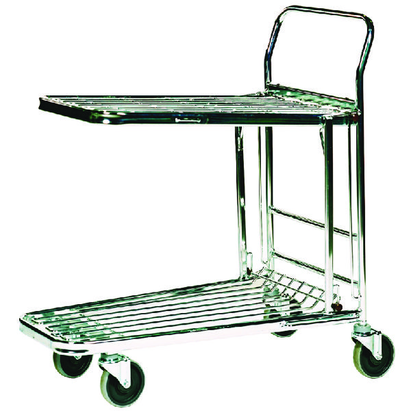 Stock Trolley Metallic Grey 300kg Capacity (W460 x D865 x H980mm) 373227