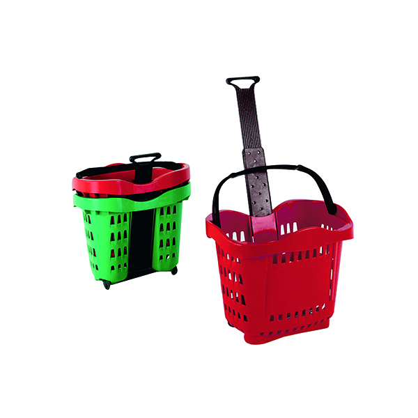 Giant Shopping Basket/Trolley Red