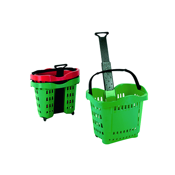 Giant Shopping Basket/Trolley Green SBY20755