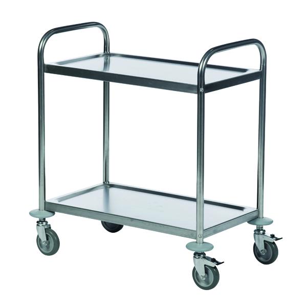 Economy Stainless Steel 2-Shelf Trolley 375608