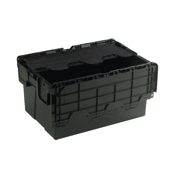 Attached Lid Container 54L Black 375814