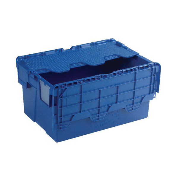 Image for Attached Lid Container 54L Blue 375815