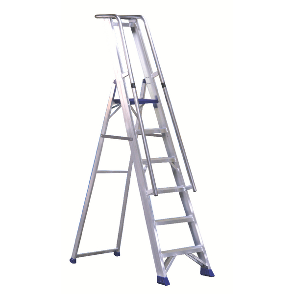 Aluminium Step Ladder With Platform 5 Steps 377855