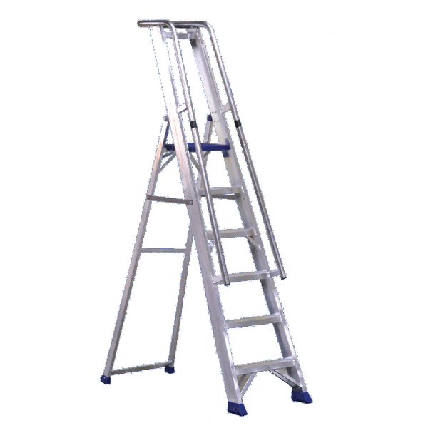 Aluminium Step Ladder With Platform 7 Steps 377857
