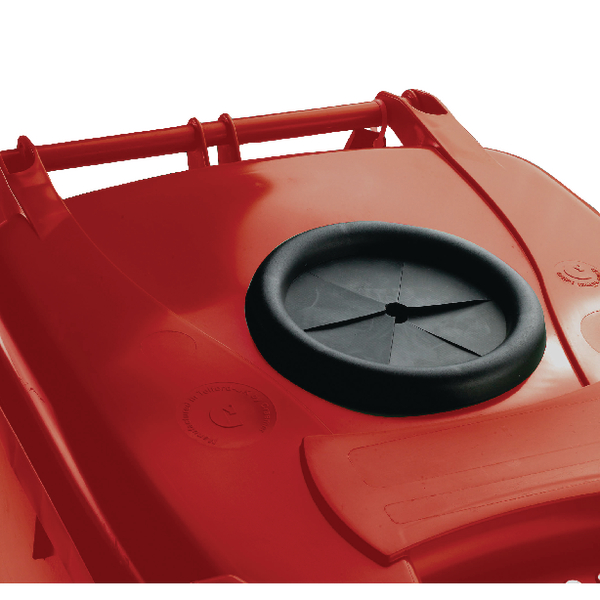 Wheelie Bin With Bottle Bank Aperture 360 Litre Red 377872