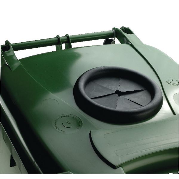Wheelie Bin With Bottle Bank Aperture 360 Litre Green 377877
