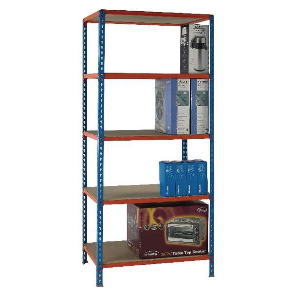 Standard Duty Painted Orange Shelf Unit Blue 378970