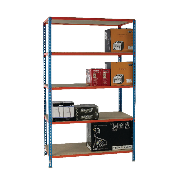 Image for Standard Duty Painted Orange Shelf Unit Blue 378986