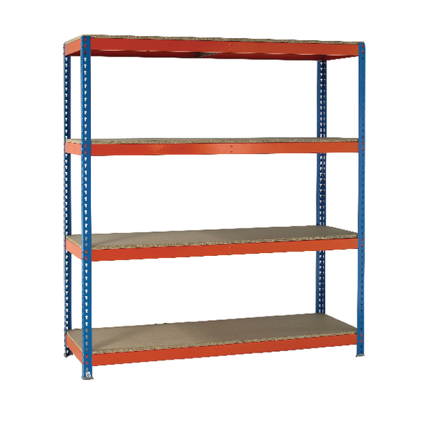 Image for VFM Orange/Zinc Heavy Duty Boltless Shelving 379030