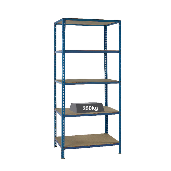 Image for Medium Duty Bays Shelf Size 1200x600mm Blue 379626